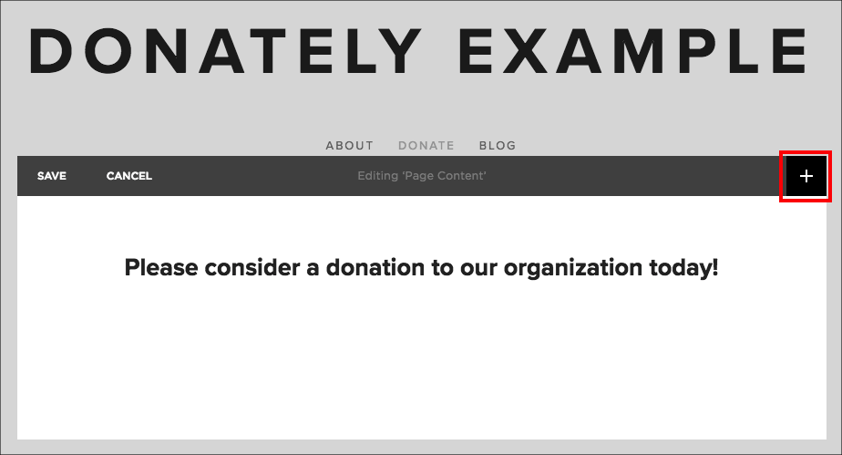 Embedding a Donately donation form into a Squarespace site